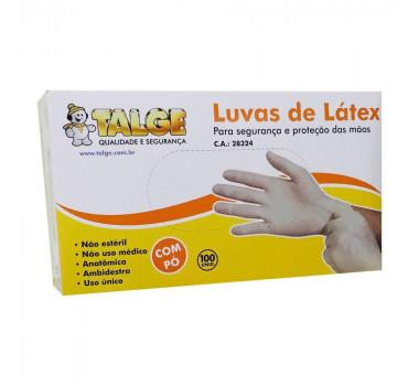 LUVA LATEX PROFISSIONAL COM PO C/100 UND TAM G 915 TALGE