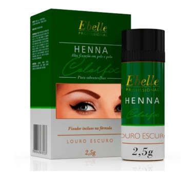HENNA P/ SOBRANCELHAS LOIRO ESCURO 140 EBELE