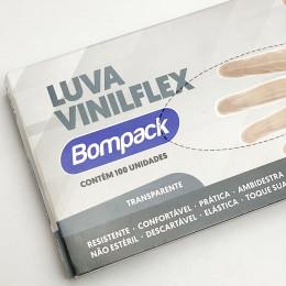 LUVA VINILFLEX S/PO TRANSPARENTE P C/100 978 BOMPACK