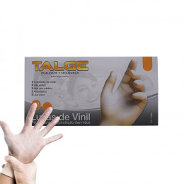 LUVA PARA PROCEDIMENTO EM VINIL COM PO 045 TAM P C/100 - TALGE