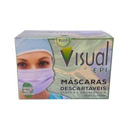 MASCARA TRIPLA DESCARTAVEL TNT C/ 50 UN 930 VISUAL EPI